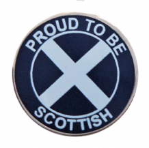 Scotland Saltire Proud To Be Scottish Pin Badge - T1273